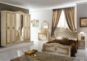 Camera Da Letto Matrimoniale In Francese : Camera da letto matrimoniale luisa stile barocco completa di rete a