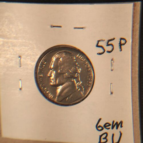 1955 Jefferson Nickel Gem BU