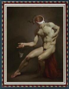 """Hand-painted original Oil painting art boy male nude on canvas 24""""x36"""""""