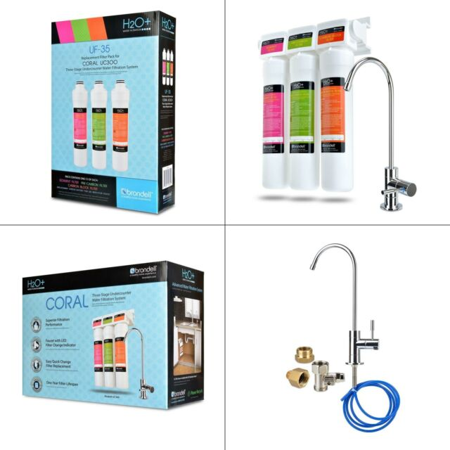 Brondell Coral 3-Stage Under Counter Water Filtration System 99/% Lead Reduction