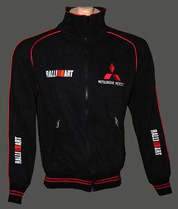 Mitsubishi-Ralliart-fleece-polar-Jacket-embroidered-logos-Coat-Veste-Parka
