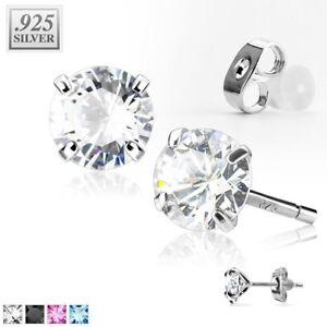 Ohrstecker-925-Sterling-Silber-Damen-Ohrringe-Zirkonia-Kristall-Geschenk