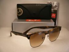 Ray Ban Oversize Clubmaster Matte Tortoise W Brown Gradient Lens 53mm
