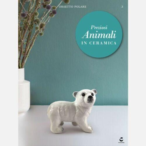 Preziosi Animali in Ceramica n° 3 Orso Bianco Miniature realizzate fine ceramica