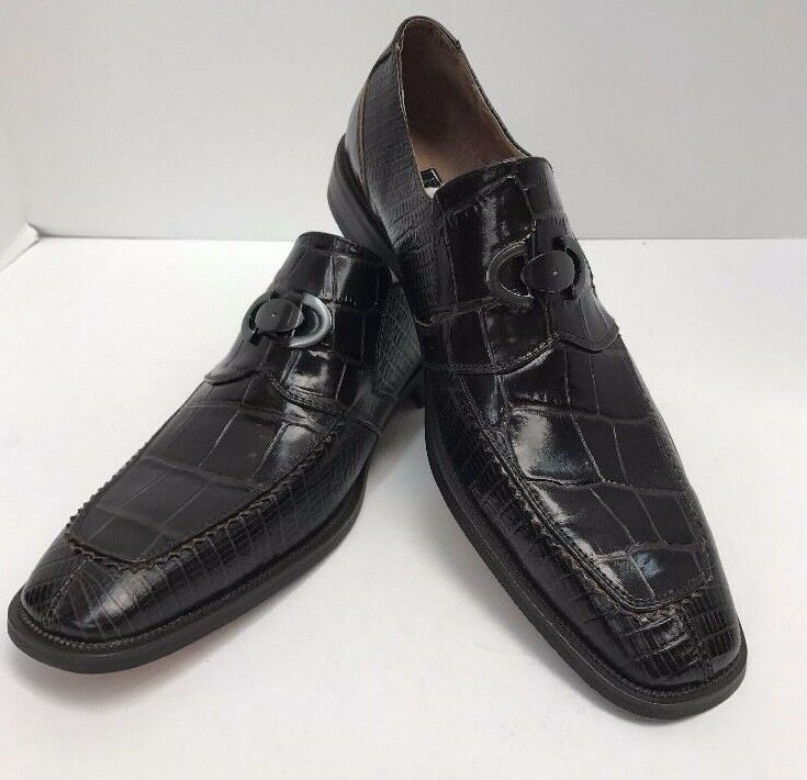 ba482a5e85d Men s Fratelli Select Chocolate Loafer Shoes Leather Upper Lining Sizes  Sizes Sizes 8.5-10.5