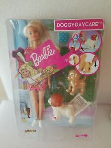 Barbie Doggy Daycare Doll, Blonde and Pets Playset with Puppy that Poops