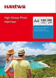 100-Sheets-A4-260Gsm-High-Glossy-Photo-Paper-Inkjet-Paper-Thick-Heavy-Hartwii-AU