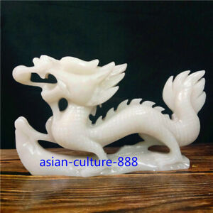 White Ceramic Year of the Dragon Figurine