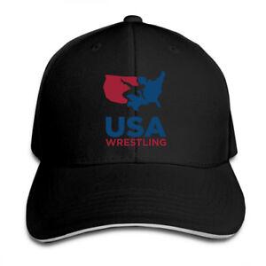 USA-Wrestling-Adjustable-Cap-Snapback-Baseball-Hat