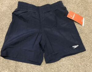 SPEEDO-Boys-Age-6-7-Years-Small-Logo-Navy-Swimming-Water-Shorts-New-With-Tags