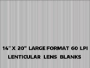 5 Sheets Large 14 X 20 60 Lpi 3d Flip Lenticular Plastic Lens Blanks Ebay
