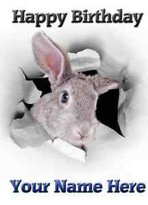 Image Is Loading Rabbit Birthday Card PID056 Happy A5 Personalised