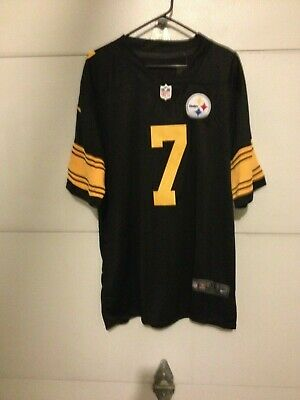 big sale ecfb9 ae183 Pittsburgh Steelers # 7 Ben Roethlisberger Color Rush Jersey ...
