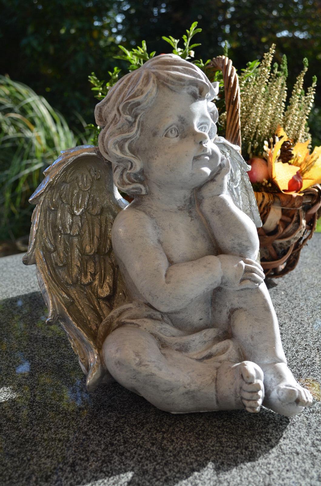Tomba Angelo Angelo Angelo Custode lutto tomba gioielli decorazione angelo personaggio Bianco Grigio argentoo
