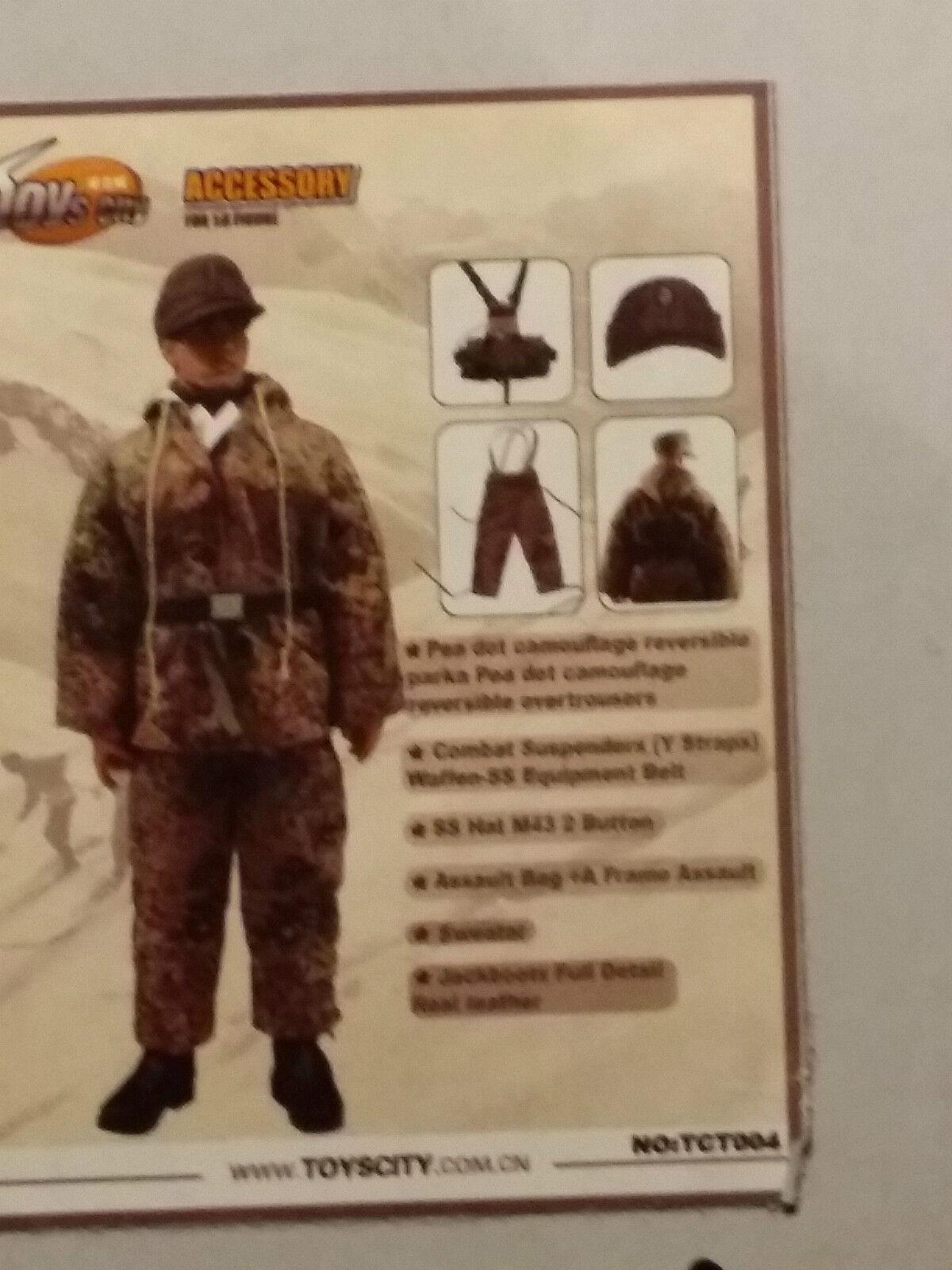 1 6 Toys City Camo Set 6004 Peadots - Dragon Soldier Story Cal Tek 12 pouces