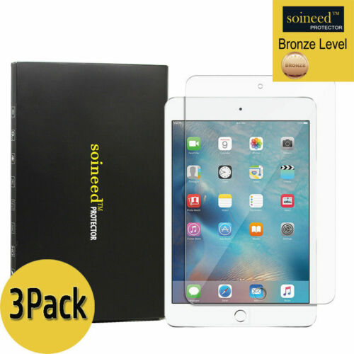 3X SOINEED iPad 2 3 4 5th 6th Air Mini 7.9 Pro 9.7 10.5 Tempered GLASS Protector