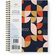 2022 Geometric Large Annual Planner By Bright Day 11 X 85