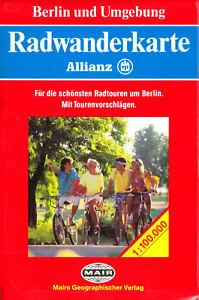 Allianz-Radwanderkarte, Berlin und Umgebung, 1990
