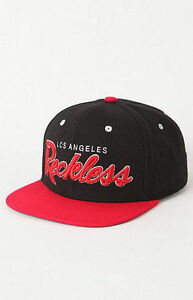 838a84833 Details about Y&R YOUNG RECKLESS LOS ANGELES MENS LID HAT BLACK EMBROIDERED  LOGO OSFA NEW $30