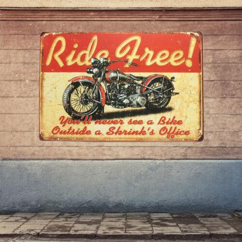 Vintage Metal Tin Sign Plaque Wall Poster Sheet Cafe Bar Motorcycle 25