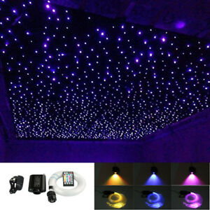 Details About 16w Music Led Fiber Optic Star Ceiling Light Kit 335pcs 0 75mm 1mm 1 5mm 3m