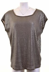 ARMANI-Womens-Top-Blouse-Size-16-Large-Grey-Viscose-Oversized-EA08