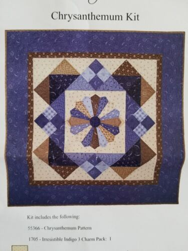 "Chrysanthemum Quilting Kit from Connecting Threads 56"" x 56"""