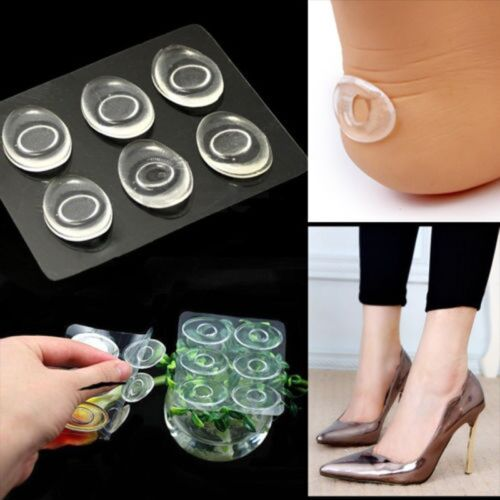 6x Silicone Gel Shoe Insole Inserts Pad Cushion Foot Care Heel Grips Liner Hot