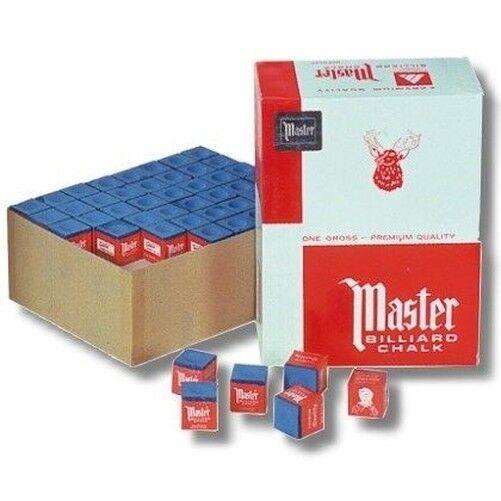 Gessetto da Biliardo Biliardo Gesso Master Blu 144 Pezzo