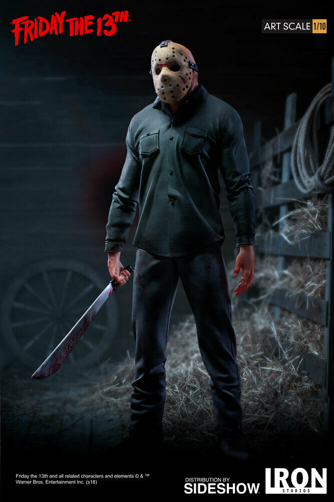 Jason Voorhees Iron Studios 1 10 Friday The 13th Sideshow Statue In Stock