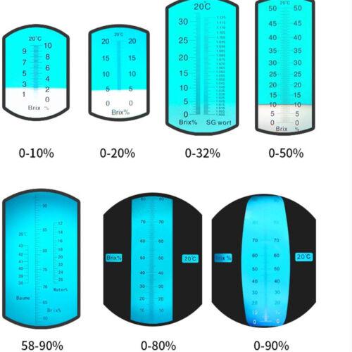 Brix 0-10/% lait fruits douceur Meter Testeur Portable Réfractomètre