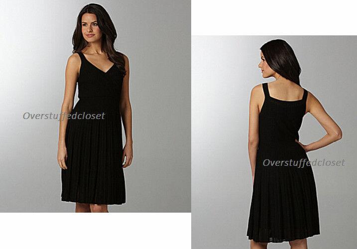 Nuevo Con  Etiquetas  418 Eileen Fisher refinado Surplice plisada a la rodilla vestido Negro Xl  tienda hace compras y ventas