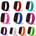 Hot Women's Men Girls Boys Kids Sport LED Silicon Bracelet Digital Wrist Watch
