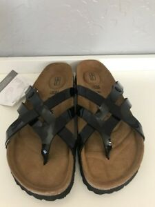 4b6b7ac15d65 Image is loading New-Betula-by-Birkenstock-Black-Patent-Soft-Footbed-