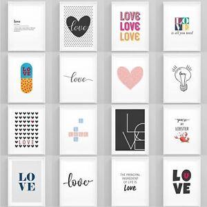 Love-Art-Print-Framed-Home-Artwork-Romantic-Bedroom-Posters-Wall-Art-for-Couples