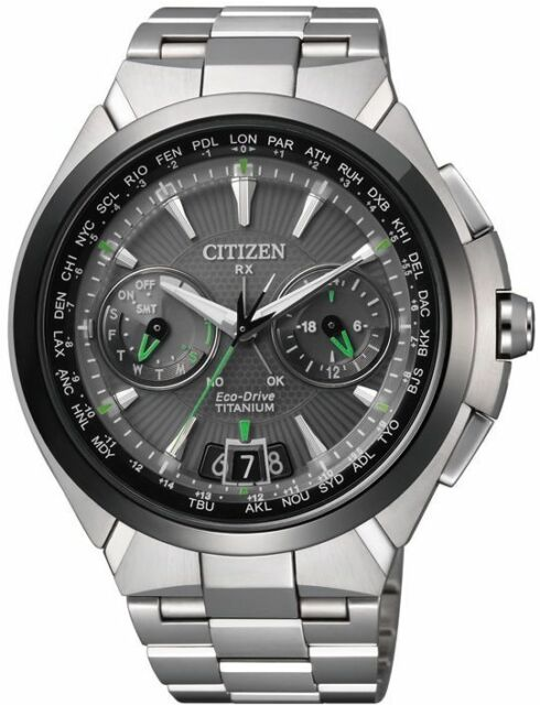 Citizen Attesa Satellite Wave Air Titanium DLC Sapphire Japan Watch CC1086-50E