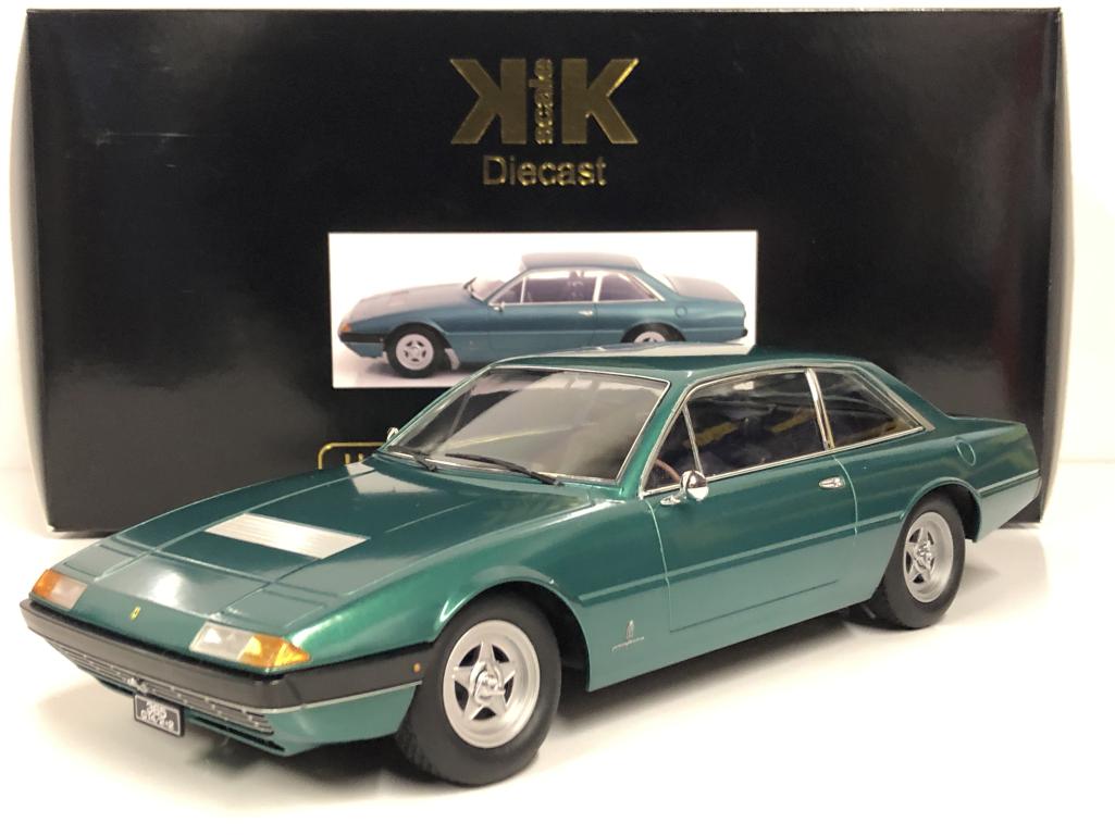 Ferrari 365 GT4 2+2 1972 Vert Métal 1 18 Echelle Kk Scale 180164