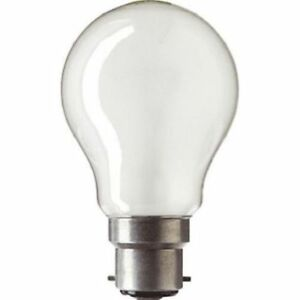 10 x 60w Frosted/Opal GLS Light Bulb Lamp BC Bayonet Cap B22 Push in Bulbs Cheap Lighting