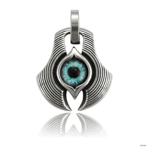 Anhänger Tribal-Auge Schutz-Amulett Herren-Kette Edelstahl Länge wählbar