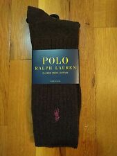 Polo Ralph Lauren Classic Crew Cotton Spandex Socks Size 10-13 CHOOSE YOUR COLOR