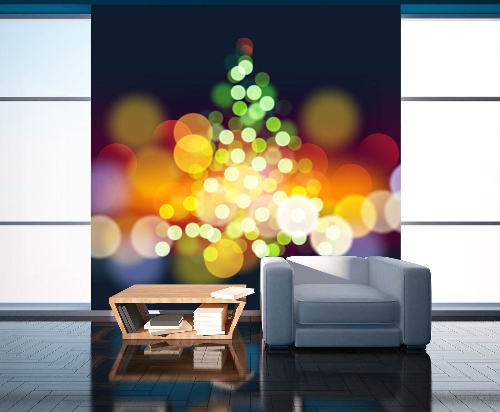 3D Christmas Farbeful circle WallPaper Murals Wall Print Decal Wall AJ WALLPAPER
