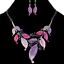 Fashion Women Leaves Crystal Pendant Statement Choker Chunky Bib Necklace Chain