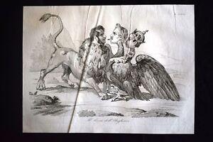 Incisione-d-039-allegoria-e-satira-Ungheria-Austria-Russia-Don-Pirlone-1851