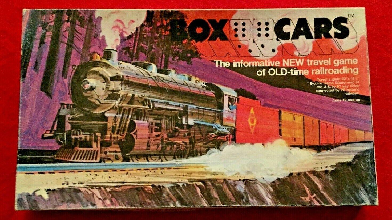BOXCARS, ERICKSON GAMES, 1974  ORIGINAL RAIL BARON  1830, 18XX, COLLECTOR ITEM