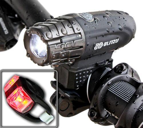 Super Bright USB Rechargeable Bike Light Blitzu Gator 320 POWERFUL Bicycle ...