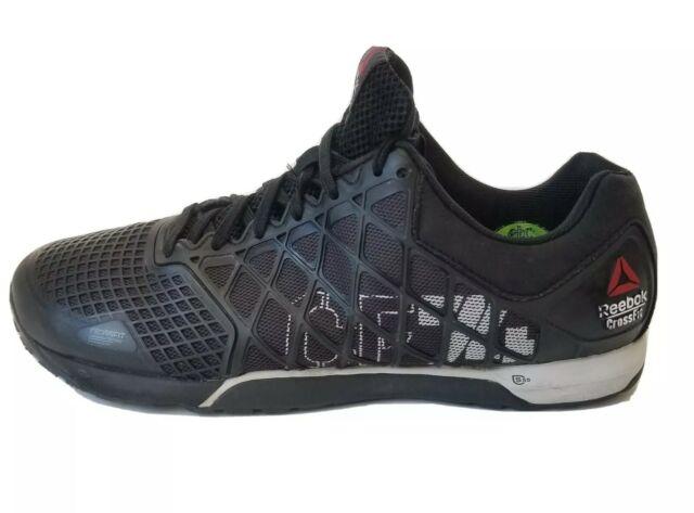 Mens Size 12 Reebok Crossfit CF74 Nano 4.0 Black Gray Athletic Training Shoes