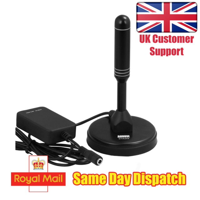 Freeview TV Aerial Portable Indoor//Outdoor Digital Antenna for USB TV Tuner