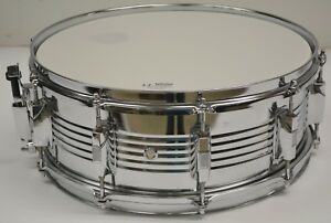 import concert snare drum size 5 1 2 x 14 chrome steel shell ebay. Black Bedroom Furniture Sets. Home Design Ideas
