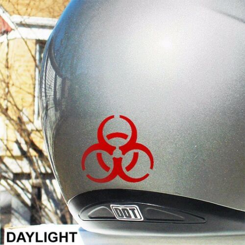Motorcycle and Helmet #077R Biohazard Refective Decal for your Bike