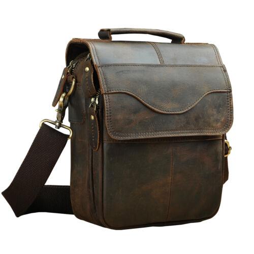 Men/'s Genuine Leather Vintage Cross Body Sling Messenger Shoulder Bag Satchel